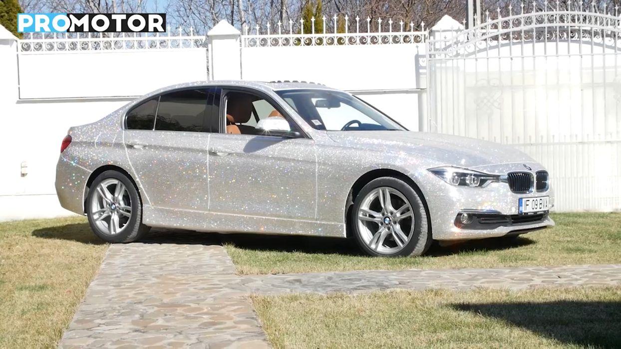 Un BMW Seria 3 a fost îmbrăcat complet în cristale Swarovski