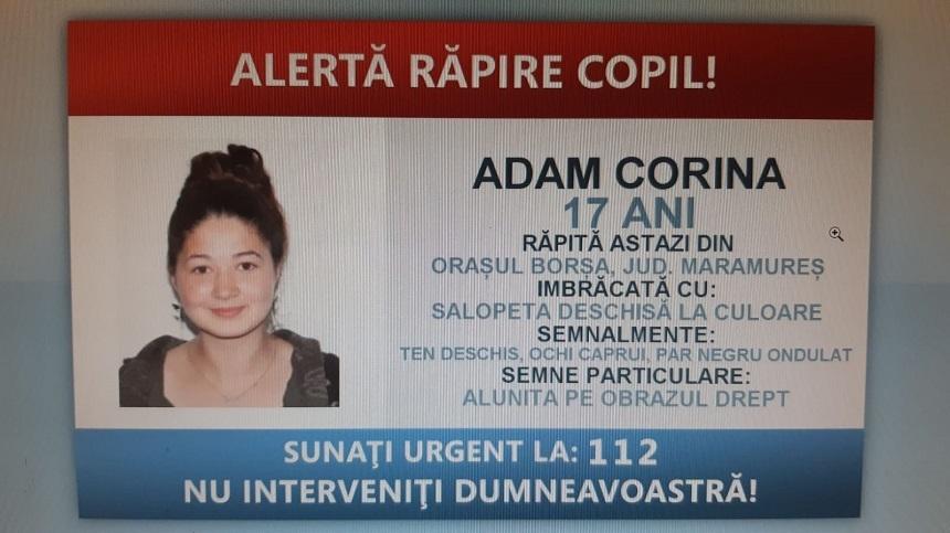 Maramureş: Adolescentă din oraşul Borşa, răpită de pe stradă - FOTO