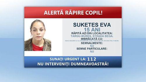 Fată de 15 ani, răpită de pe o stradă din Târgu Mureş şi băgată cu forţa în maşină de persoane necunoscute/ A fost declanşat mecanismul