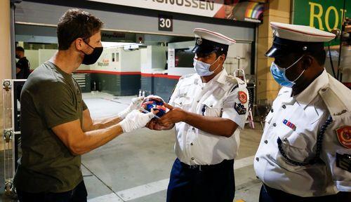 Romain Grosjean a revenit în paddock la Sakhir - VIDEO