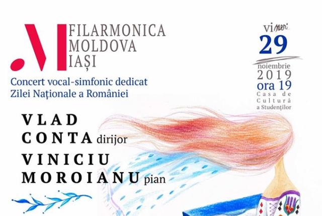 """Filarmonica """"Moldova"""" din Iași sărbătorește Ziua Națională a României printr-un concert extraordinar"""