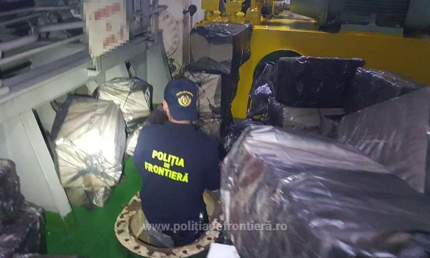 Poliţiştii au tras 12 focuri de armă în Portul Constanţa pentru prinderea unor marinari sirieni suspectaţi de contrabandă cu ţigări - VIDEO