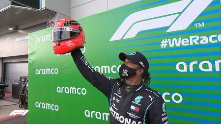 Lewis Hamilton a egalat recordul lui Schumacher de 91 de victorii în Formula 1