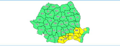 Şapte judeţe şi Capitala sunt sub cod galben de ninsori până la ora 20:00 - HARTA