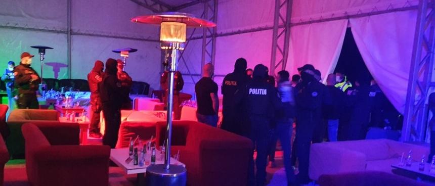 Olt: Amenzi de zeci de mii de lei pentru mai multe contravenţii, date administratorului unui club din Corabia, unde poliţişti au găsit 170 de persoane