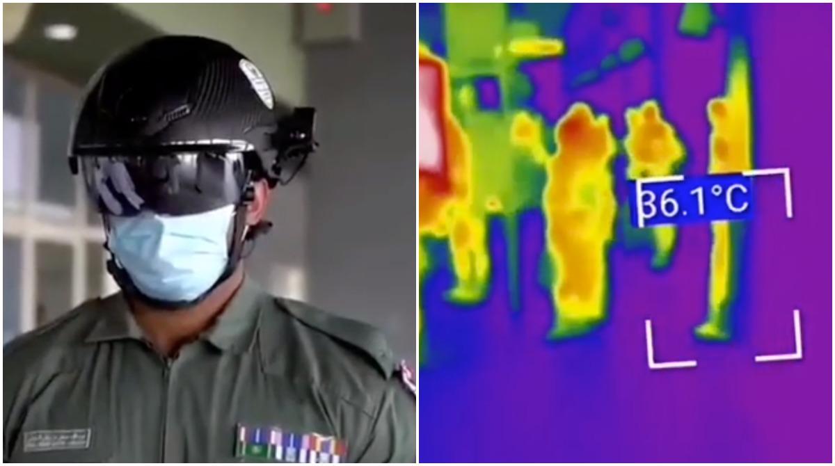 Polițiștii din Dubai folosesc căști inteligente pentru a monitoriza temperatura călătorilor din transportul public