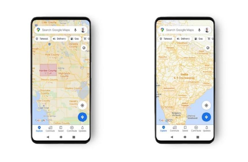 O nouă funcţie a Google Maps va afişa câte cazuri de Covid-19 sunt într-o anumită zonă geografică