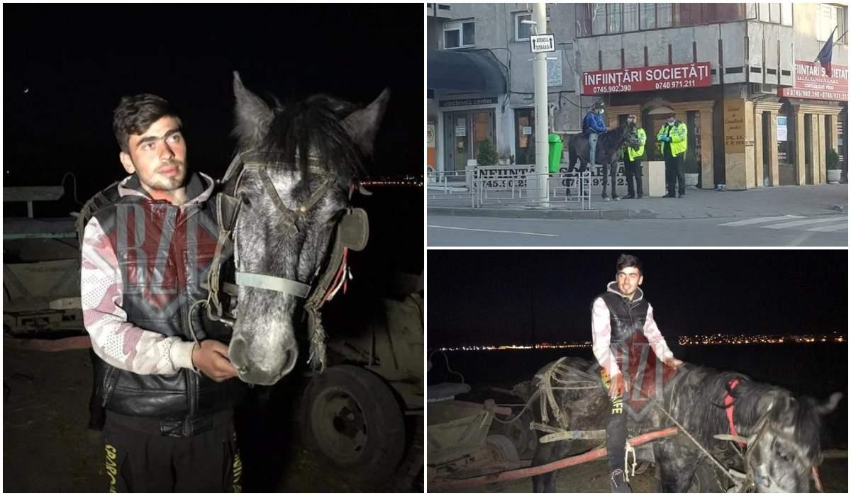 Sergiu, tatăl care s-a urcat pe cal și s-a dus la maternitate ca să își vadă băieţelul abia născut și soţia: