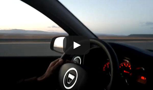 Dacia Logan ajunge la 200 de km/h. Cel mai rapid Logan (nemodificat) filmat pe un drum public