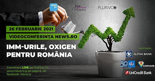 Ministrul Economiei, Antreprenoriatului şi Turismului, Claudiu Năsui, participă la videoconferinţa News.ro