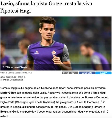 10 milioane de euro pentru Ianis Hagi. Românul i-a fost preferat lui Gotze şi prinde marele transfer