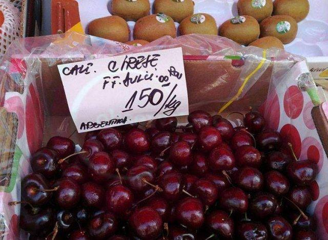 Au apărut primele cireșe în piețele românești: 150 de lei kilogramul!