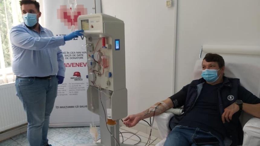 Buzău: Primul pacient vindecat de coronavirus a donat plasmă pentru salvarea altor bolnavi infectaţi, aflaţi în stare gravă